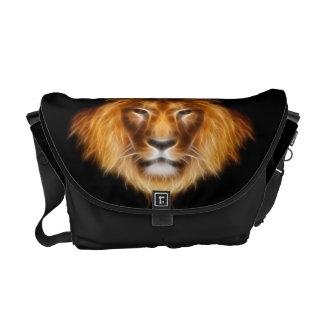 フラクタルのライオン メッセンジャーバッグ