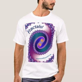 フラクタルのワイシャツの白 Tシャツ