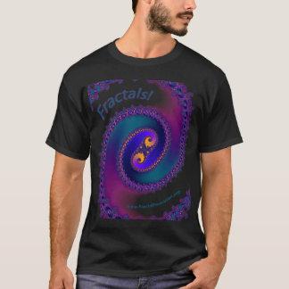 フラクタルのワイシャツの黒 Tシャツ