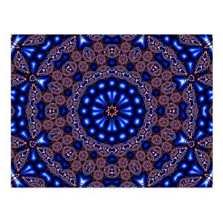 フラクタルの万華鏡のように千変万化するパターンの芸術670 ポストカード