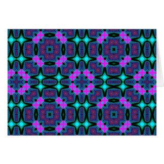 フラクタルの万華鏡のように千変万化するパターンの芸術734 グリーティングカード