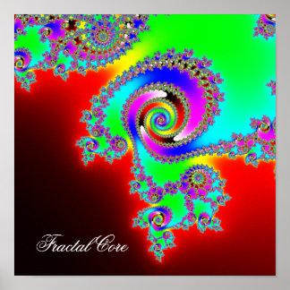 フラクタルの中心-無限内部のイメージ ポスター