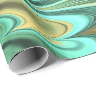 フラクタルの大理石6-2の包装紙 ラッピングペーパー