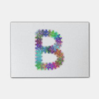 フラクタルの手紙Bのモノグラム ポストイット
