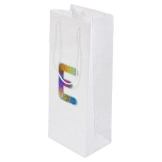 フラクタルの手紙Eのモノグラム ワインギフトバッグ