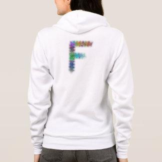フラクタルの手紙Fのモノグラム パーカ