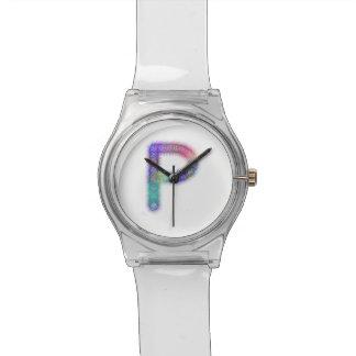 フラクタルの手紙Pのモノグラム 腕時計