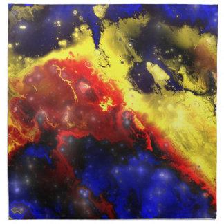 フラクタルの星雲1つのナプキン ナプキンクロス