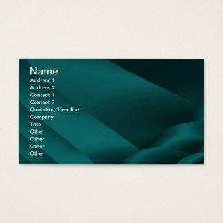 フラクタルの暗いティール(緑がかった色)のサテンリボンの名刺 名刺