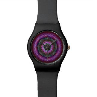 フラクタルの曼荼羅のプルーン饗宴の腕時計 腕時計