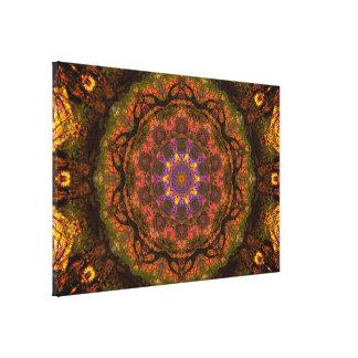 フラクタルの曼荼羅 キャンバスプリント