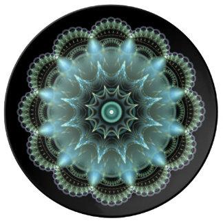 フラクタルの曼荼羅 磁器プレート