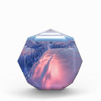 フラクタルの氷河景色 表彰盾