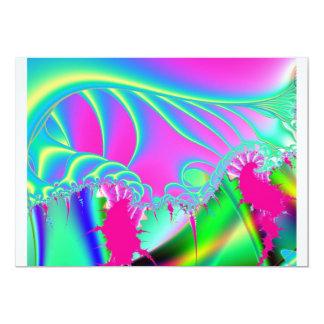 フラクタルの波の招待状 カード