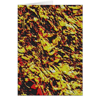 フラクタルの溶岩パターン カード