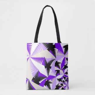 フラクタルの熱帯紫色 トートバッグ