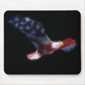 フラクタルの白頭鷲の愛国心が強いマウスパッド マウスパッド