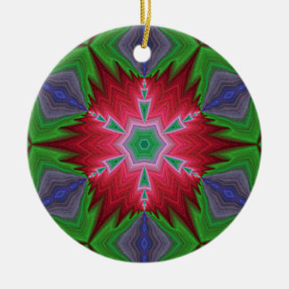 フラクタルの目まぐるしい雪片Ornament.2 セラミックオーナメント