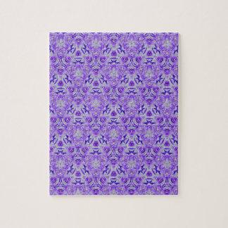 フラクタルの紫色の恋人の継ぎ目が無い個人のバックグラウンド ジグゾーパズル