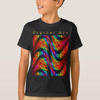 フラクタルの絹の虹 Tシャツ