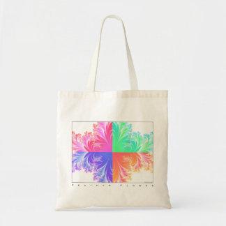 フラクタルの羽の花 トートバッグ