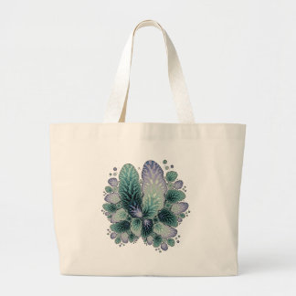 フラクタルの花びら ラージトートバッグ