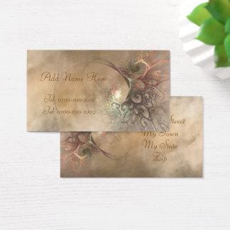 フラクタルの花束のプロフィールカード 名刺