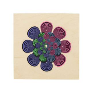 フラクタルの花 ウッドウォールアート