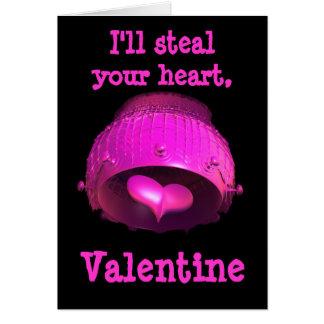 フラクタルの芸術のガーリーなショッキングピンクのパンクのバレンタイン カード