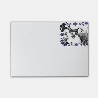 フラクタルの芸術の家猫の花の葉 ポスト・イット®ノート