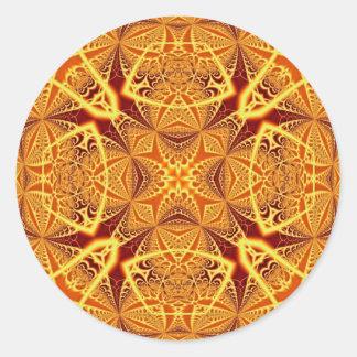 フラクタルの芸術1229年 丸型シール