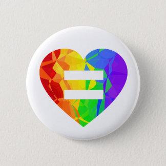 フラクタルの虹のハートの結婚の平等ボタン 5.7CM 丸型バッジ