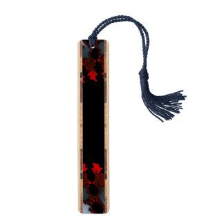 フラクタルの赤の白黒 メープル しおり