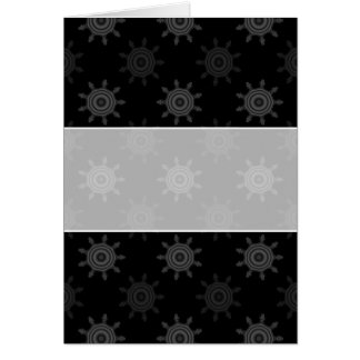 フラクタルの車輪パターン。 黒いおよび灰色の円 カード