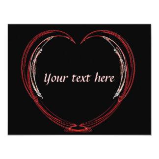 フラクタルの開いたハートのバレンタイン カード