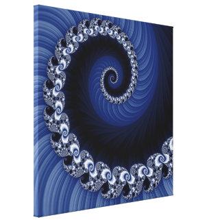 フラクタルの青い螺線形のキャンバスプリント キャンバスプリント