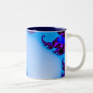 フラクタルの青 ツートーンマグカップ