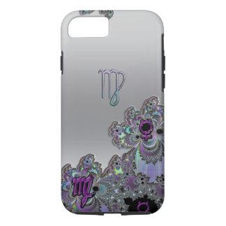 フラクタルデザインの(占星術の)十二宮図の印の《星座》乙女座のiPhone 7の場合 iPhone 8/7ケース