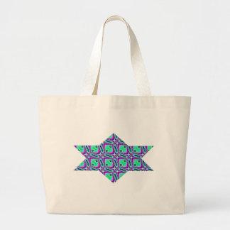 フラクタル54の星、ジャンボトート ラージトートバッグ