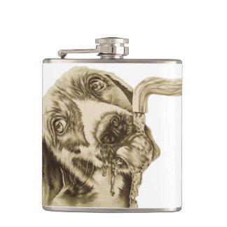 フラスコで飲む犬のスケッチ フラスク