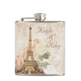 フラスコを結婚するパリのピンクのバラのヴィンテージ フラスク