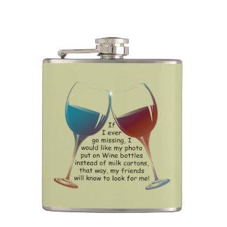 フラスコを言うおもしろいなワイン フラスク