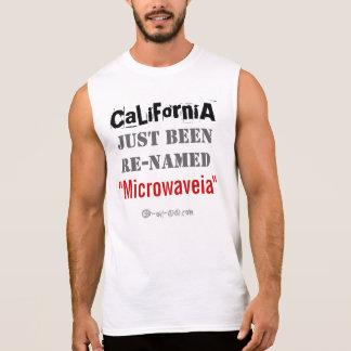 フラッシュ! カリフォルニアは名前を変更しました! 袖なしシャツ