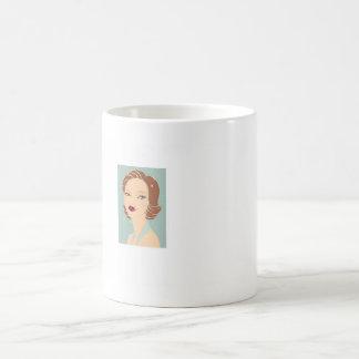 フラッパーの女の子 コーヒーマグカップ