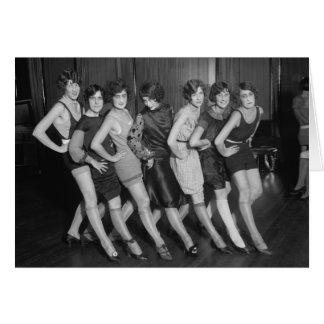 フラッパーの女の子: 1925年 カード