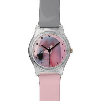 フラミンゴおよびビーチ 腕時計