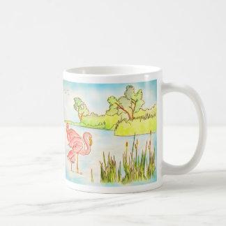 フラミンゴが付いているマグ コーヒーマグカップ