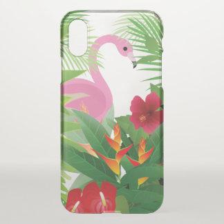 フラミンゴのやしディフレクターのiphoneの場合 iPhone x ケース