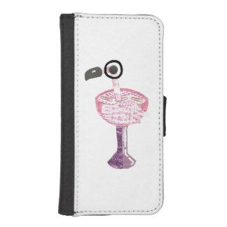 フラミンゴのカクテルの私電話5/5sウォレットケース iPhoneSE/5/5sウォレットケース