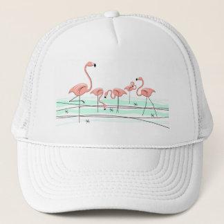 フラミンゴのグループのトラック運転手の帽子 キャップ